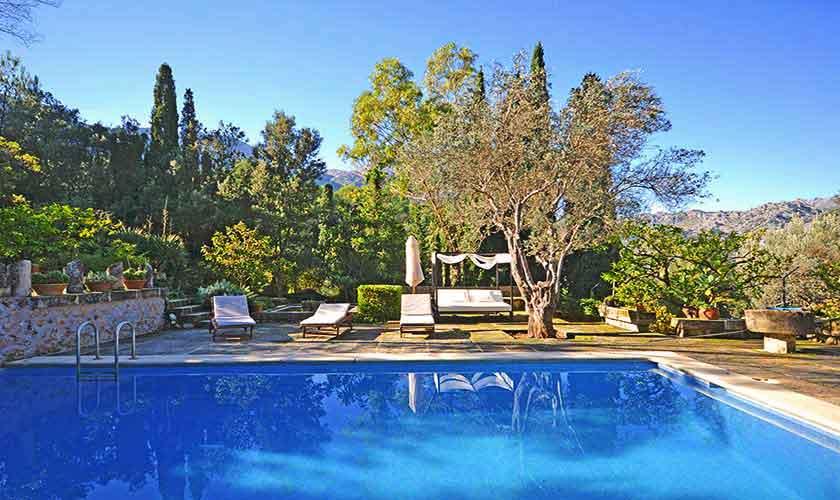 Poolblick  Ferienhaus Mallorca PM 3431