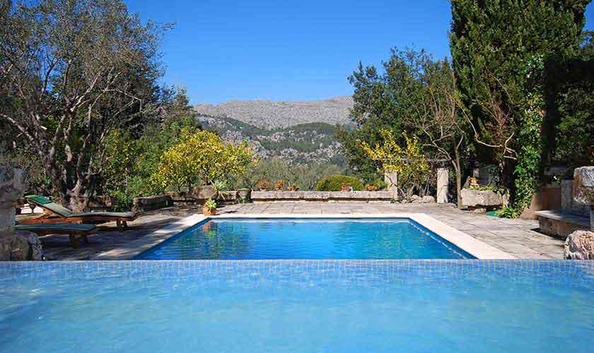 Pool und Blick Finca Mallorca 9 Personen PM 3431