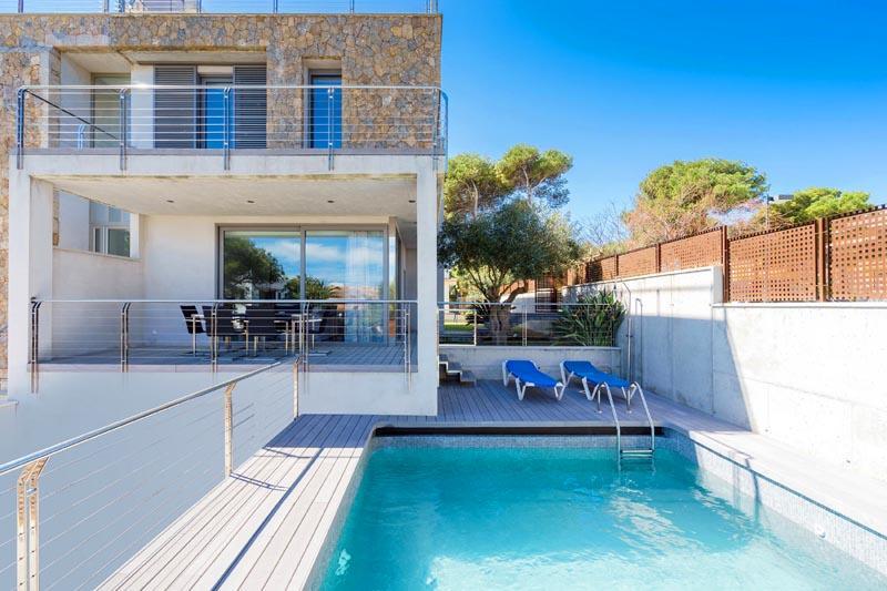 Pool und Villa Mallorca Playa de Muro PM 3479