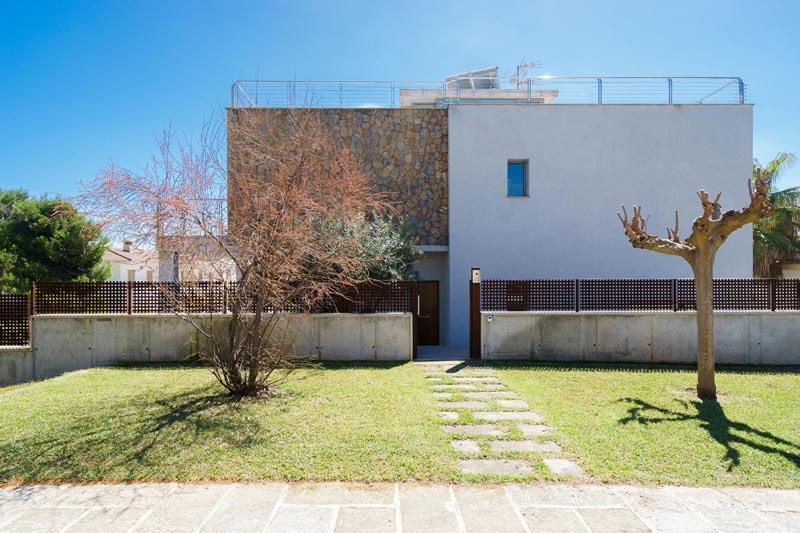 Blick auf die Ferienvilla Mallorca Nordküste PM 3479