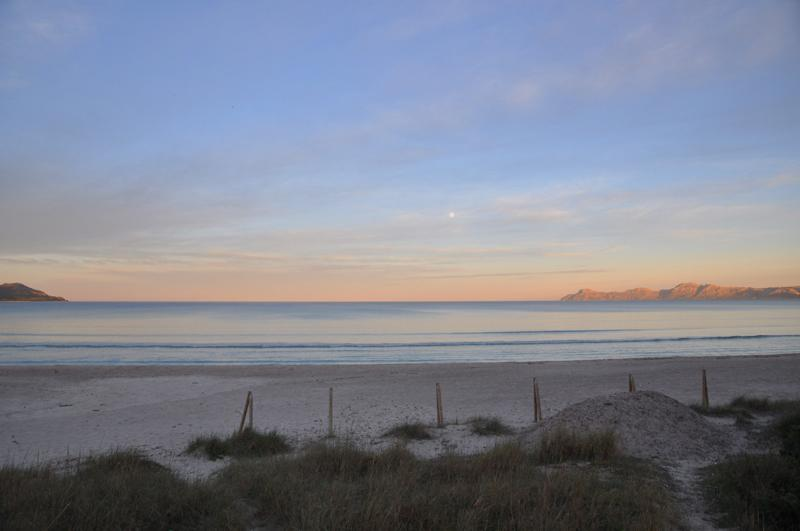Abendstimmung Meerblick Ferienhaus Mallorca Playa de Muro PM 3480 für 8 Personen