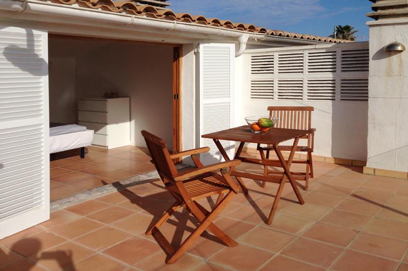Terrasse Ferienhaus Mallorca Playa de Muro PM 3480 für 8 Personen