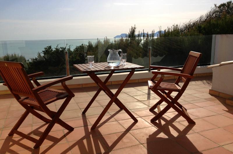 Terrasse 2 Ferienhaus Mallorca Playa de Muro PM 3480 für 8 Personen