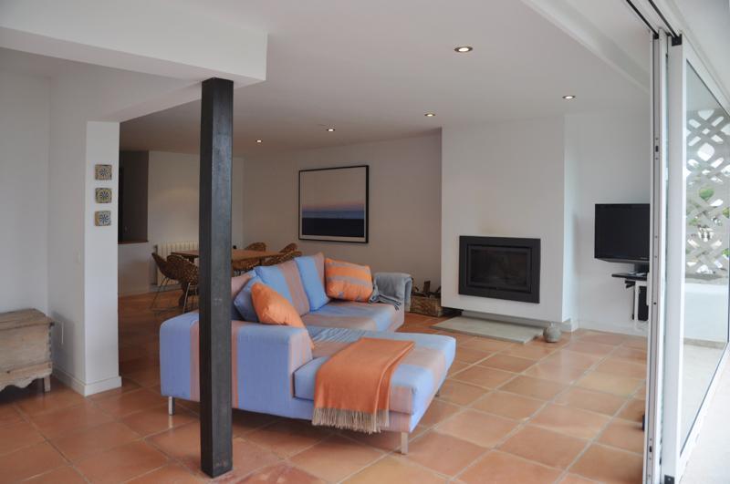 Moderner Wohnraum Ferienhaus Mallorca Strandnähe PM 3480 für 8 Personen