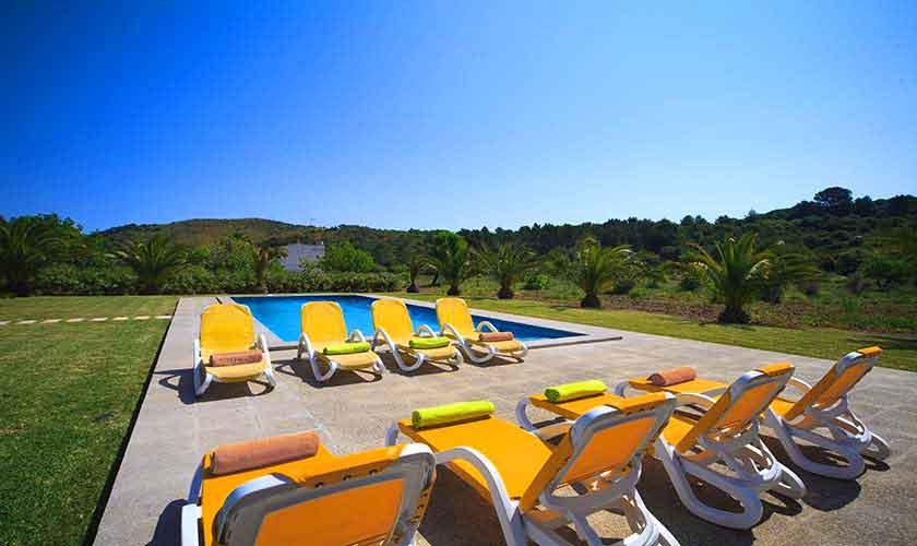 Pool und Liegen Finca Mallorca 8 Personen Pool PM 3560