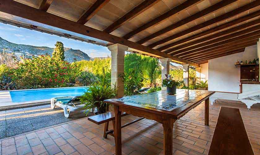 Pool und Terrasse Ferienvilla Mallorca 8 Personen PM 3561