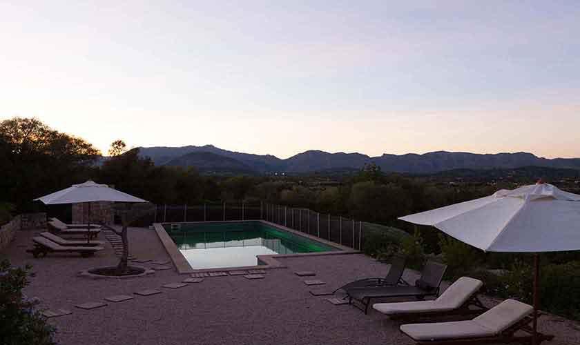 Pool und Blick Landhaus-Villa Mallorca PM 3740