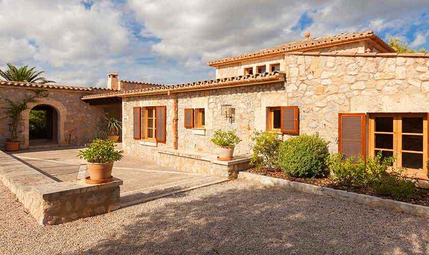 Blick auf die Landhaus-Villa Mallorca PM 3740