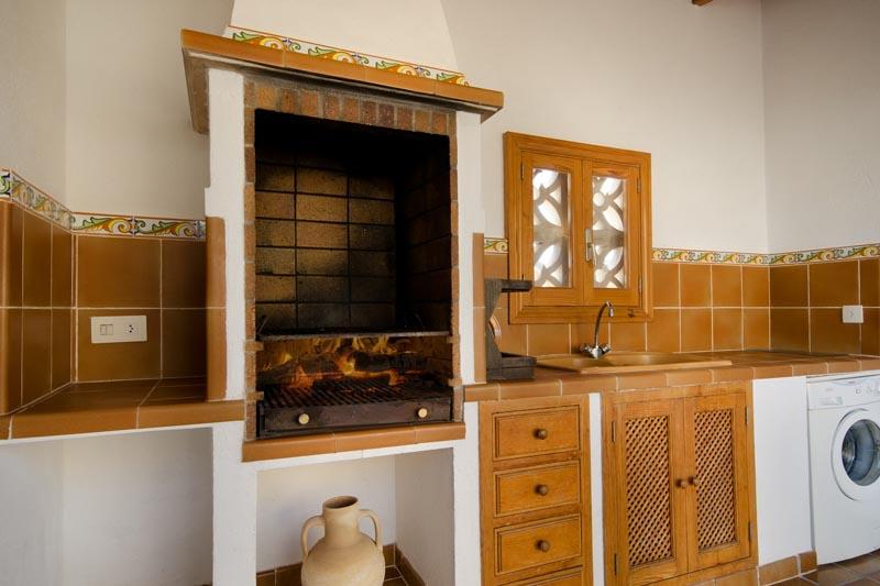 Außenküche Finca Mallorca Pollensa PM 378 für 6 Personen