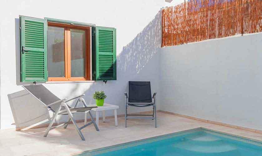 Pool und Terrasse Ferienhaus Mallorca PM 3782
