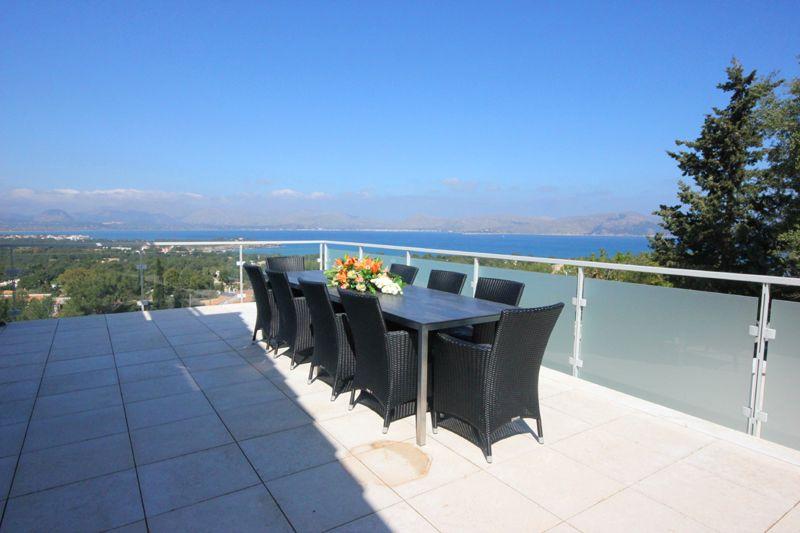 Meerblick Ferienvilla Mallorca PM 3801 mit Pool für 8 10 Personen
