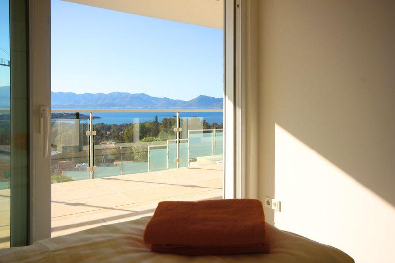 Meerblick vom Schlafzimmer Poolvilla Mallorca PM 3801 für 8 10 Personen