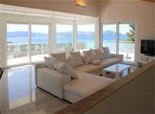 Wohnraum Ferienvilla Mallorca PM 3801 mit Pool und Meerblick für 8 10 Personen
