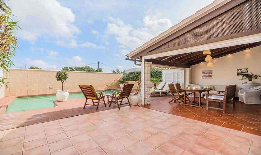 Terrasse und Ferienhaus Mallorca Alcudia PM 3883