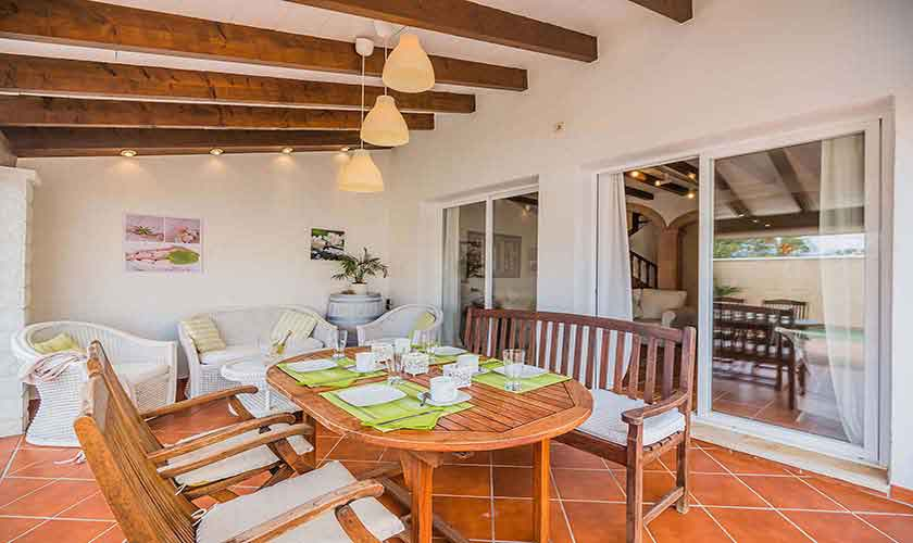 Wohnraum Ferienhaus Mallorca Alcudia PM 3883