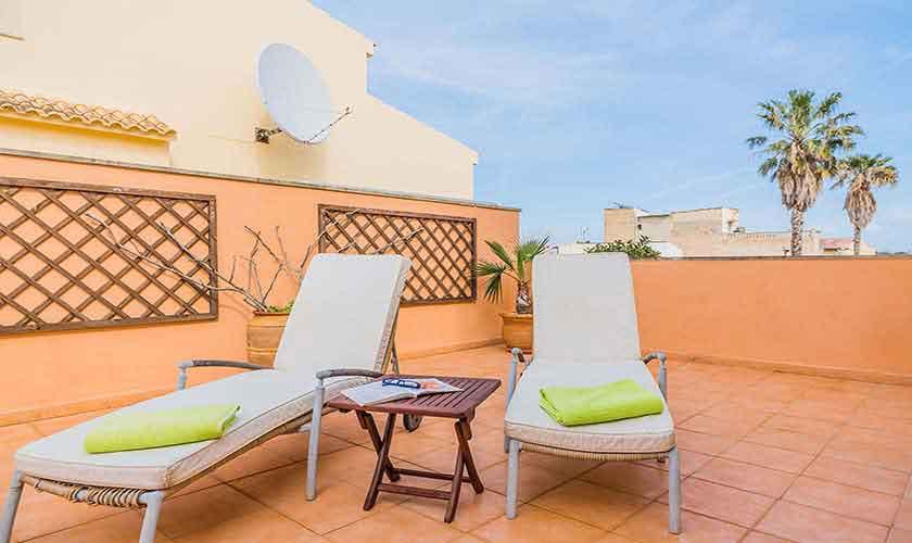 Terrasse Ferienhaus Mallorca Alcudia PM 3883