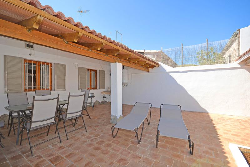 Terrasse Ferienhaus Meeresnähe Mallorca PM 462