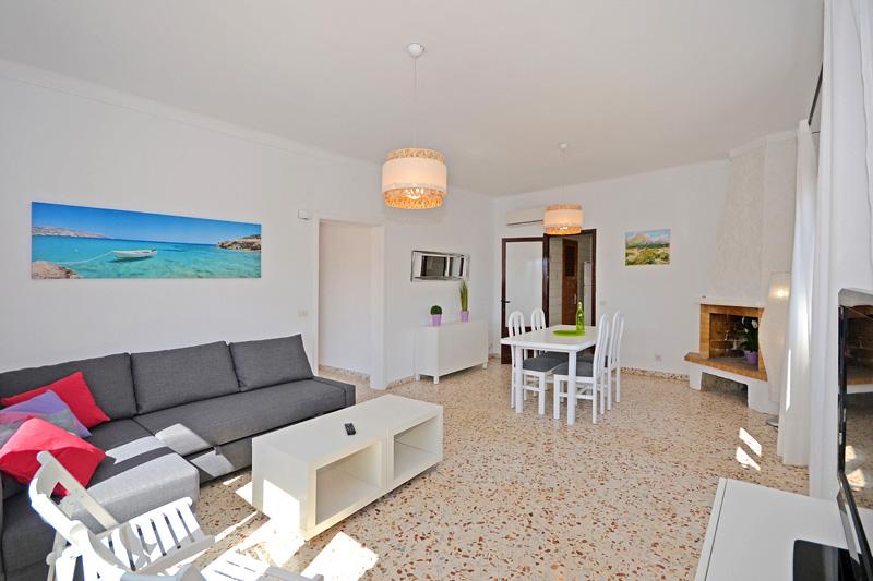 Wohnraum Ferienhaus Meeresnähe Mallorca PM 462