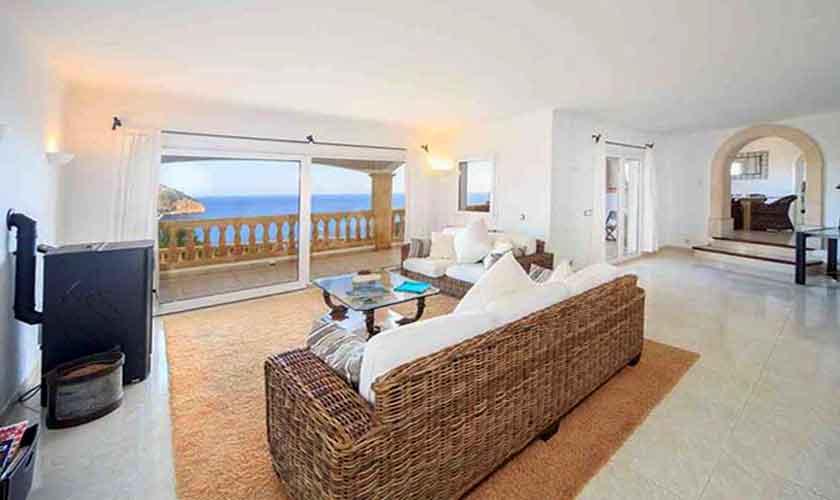 Wohnraum Ferienvilla  Mallorca Ostküste PM 501