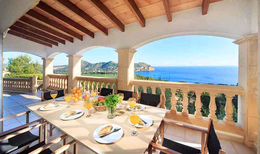 Terrasse Ferienvilla  Mallorca Ostküste PM 501