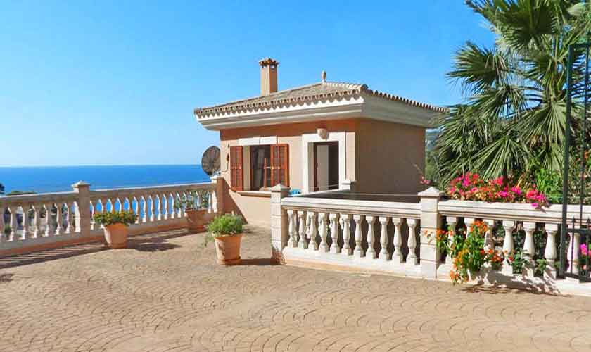 Blick auf das Ferienhaus Mallorca PM 5015