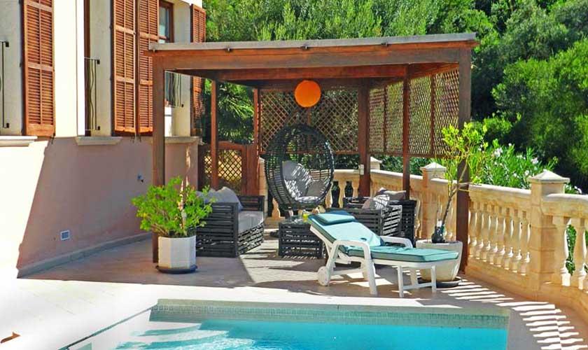 Terrasse Ferienhaus Mallorca PM 5015