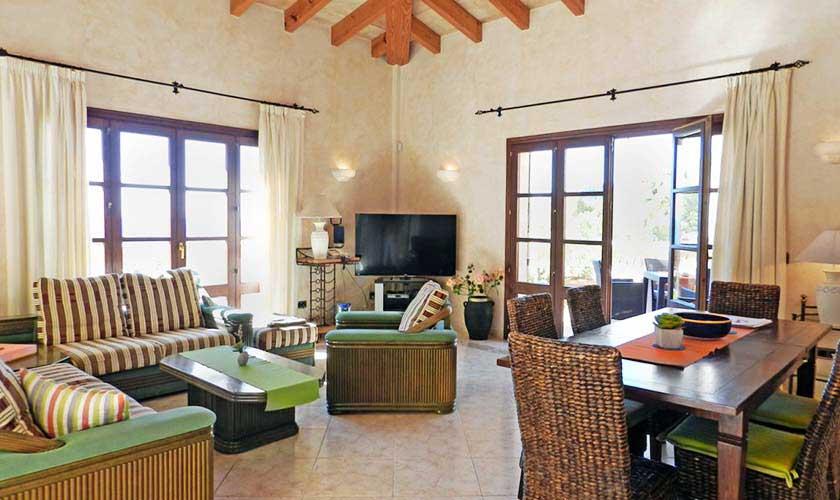 Wohnraum Ferienhaus Mallorca PM 5015