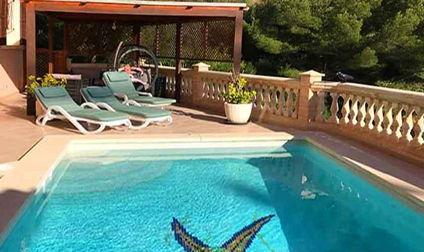 Pool und Terrasse Ferienhaus Mallorca PM 5015