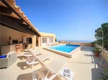 Terrasse der Ferienvilla Mallorca Ostküste PM 504