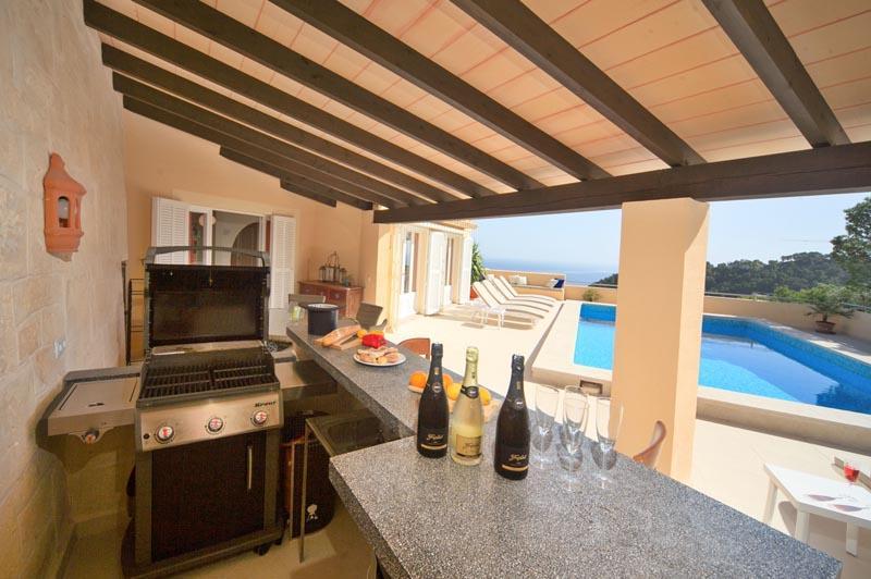 Terrasse Ferienvilla Mallorca Ostküste PM 504