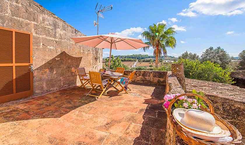 Terrasse oben Finca Mallorca Nordosten PM 5210