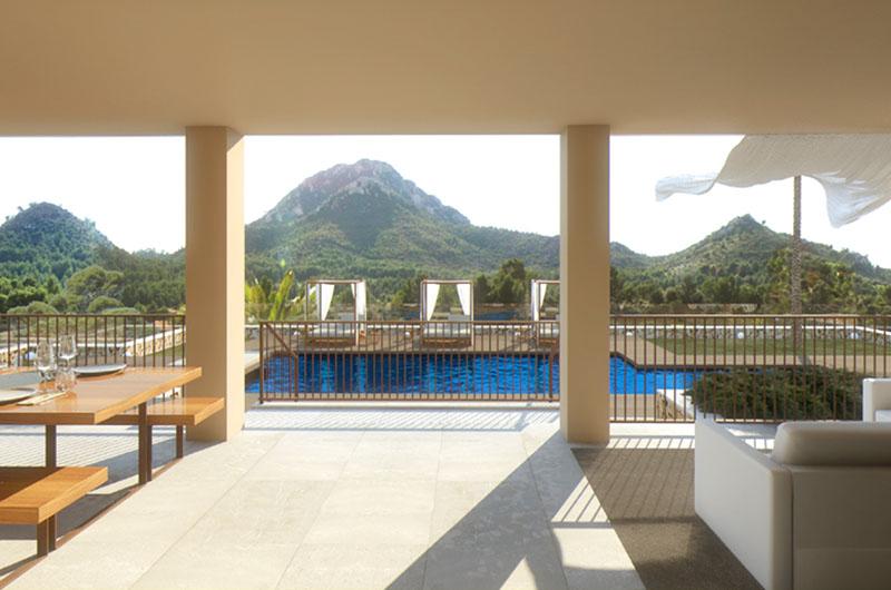 Terrasse Luxusvilla Mallorca Ostküste PM 5398