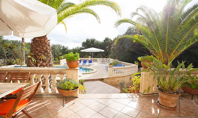 Terrasse Finca Mallorca 10 Personen PM 542