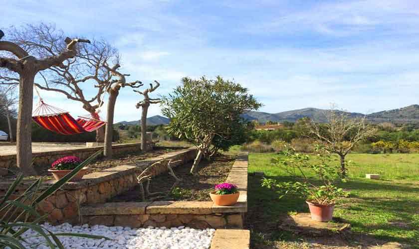 Terrasse und  Blick Finca Mallorca bei Arta PM 5490