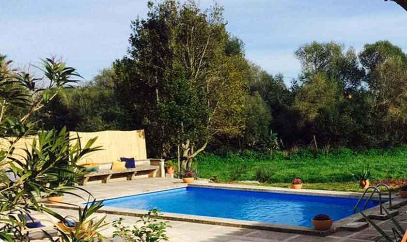 Poolblick Finca Mallorca bei Arta PM 5490
