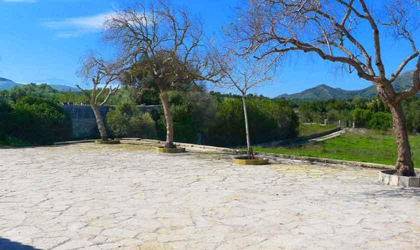 Terrasse Finca Mallorca bei Arta PM 5490