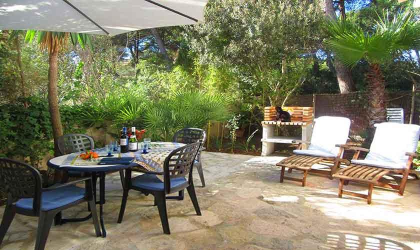 Terrasse und Grillplatz Ferienwohnung Mallorca 2 Personen PM 566