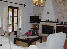 Wohnraum mit Sofas Finca Mallorca mit Pool PM 572 für 6 Personen