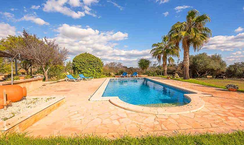 Pool und Terrasse Finca Mallorca 10 Personen PM 6012