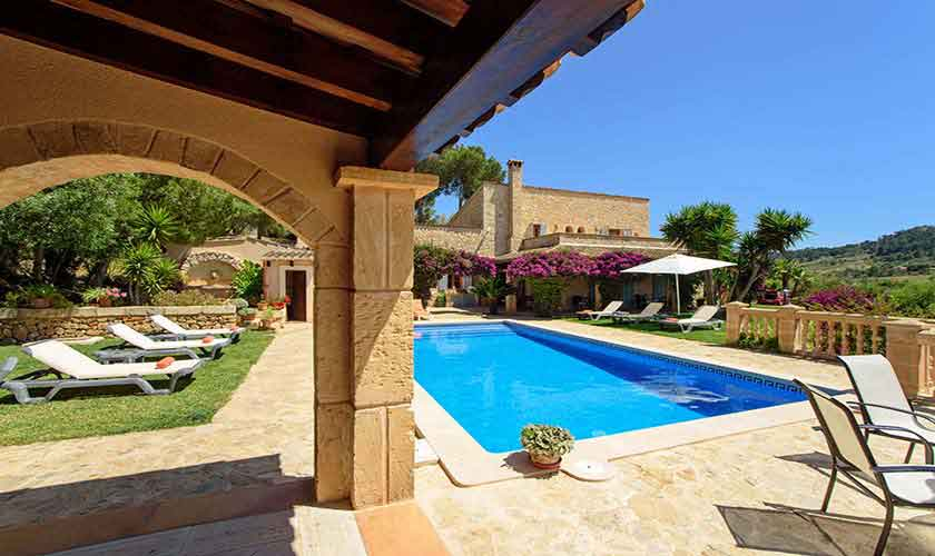 Pool und Terrasse Finca Mallorca 8 Personen PM 6013