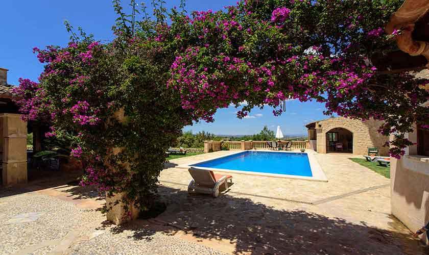 Blick auf die Finca Mallorca 8 Personen PM 6013