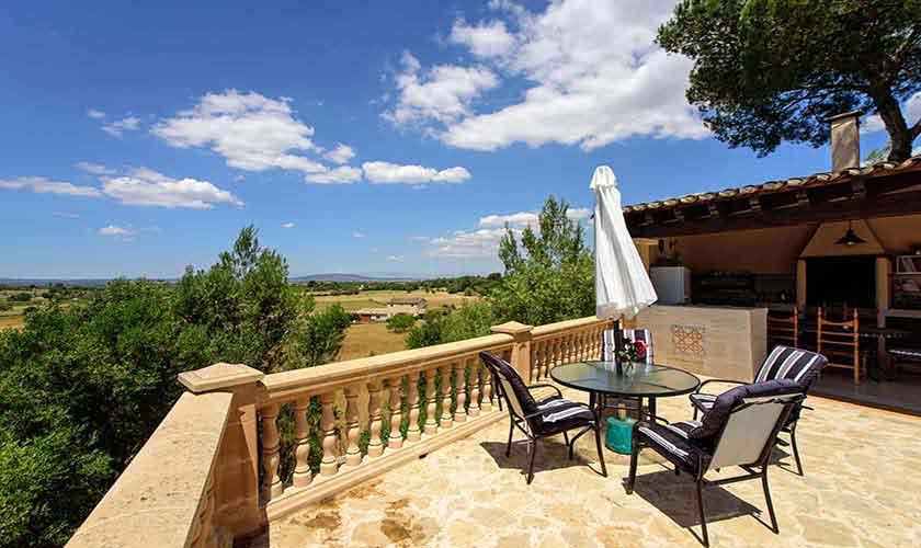 Terrasse oben Finca Mallorca 8 Personen PM 6013