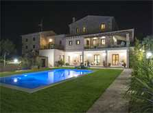Finca bei Nacht Ferienvilla Mallorca PM 6015 für 12 Personen