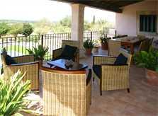 Terrasse oben Finca Mallorca PM 6015 für 12 Personen