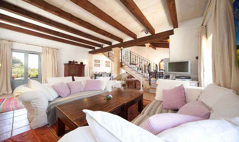 Wohnraum Ferienvilla Mallorca 10 Personen PM 6058