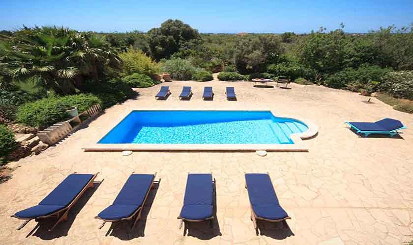 Poolblick Ferienvilla Mallorca 10 Personen PM 6058