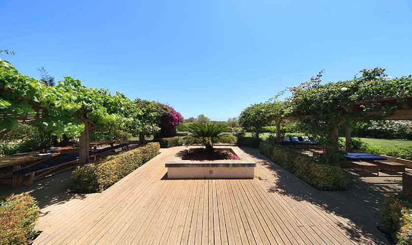 Garten Ferienvilla Mallorca 10 Personen PM 6058