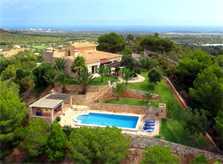 Blick auf die Ferienvilla Mallorca Südosten PM 6061