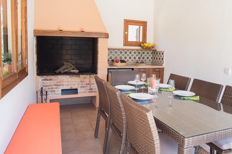 Barbecue Ferienhaus Mallorca Südosten PM 6065 für 8 Personen