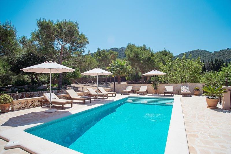 Poolblick 2 Finca Mallorca Südosten PM 6065 für 8 Personen